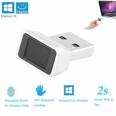 Security Mini ID USB Fingerprint Reader for Windows 10 Hello 360° Touch Speedy