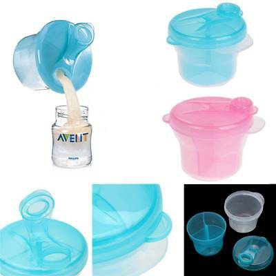 3 Cells Milk Powder Dispenser Box Baby Feeding Formula Snack Storage Containers