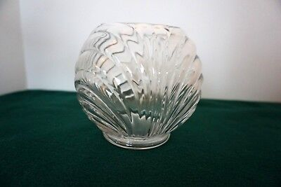 vintage cambridge glass caprice ivy rose bowl vase crystal - Cambridge Glass