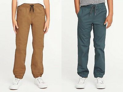 NWT Old Navy Boys Pull-On Built-In-Flex Flat-Front Joggers Pants Pant XL 14 16