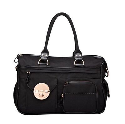 Mimco Turnlock Lucid Baby Bag Weekender Duffle Nappy Travel Black new