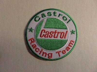 CASTROL OIL GREEN & SILVER & RED   Embroidered 2-7/8 x 2-7/8 Iron On PATCH