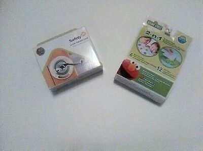 Safety 1st Lever Handle Baby Proof Child Lock and 123 Sesame Street Travel Pack