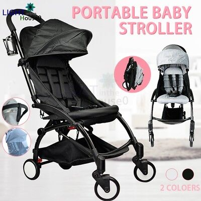 Compact Lightweight Baby Stroller Pram Jogger Pushchair Travel Carry On Plane AU