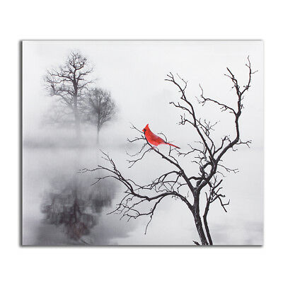 Red Bird Tree Canvas Print Painting Modern Home Wall Picture Art Decor Unframed