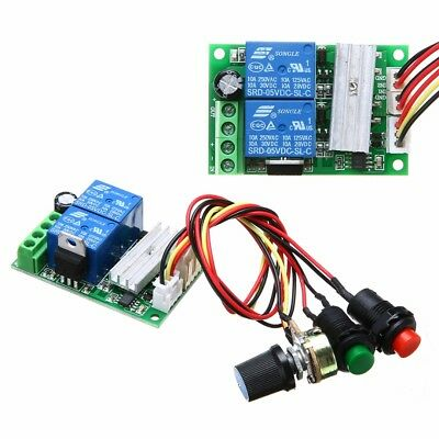 6-24V DC Motor Speed Controller Reversible PWM Control Forward / Reverse switch