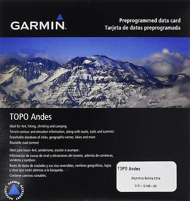 v.2016 TOPO Andes microSD/SD GPS Map Card 010-12145-00 for Selected Garmin GPS