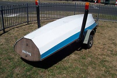 Vintage timber plywood row boat like Clinker