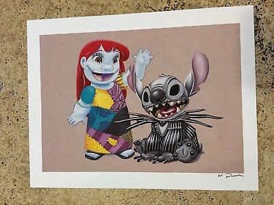 new disney fine art lilo stitch collector piece print 24 99