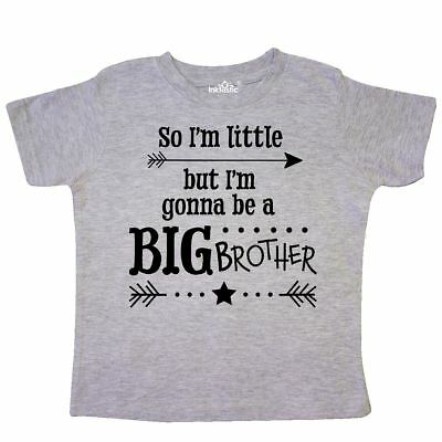 Inktastic So Im Little, But Im Going To Be A Big Brother Toddler T-Shirt New Kid