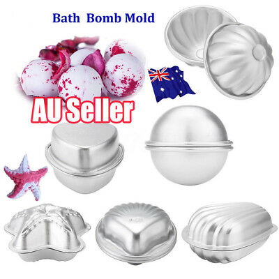 6 Shape 12 Pcs Metal Aluminum Bath Bomb Molds Moulds DIY Homemade Crafting BK