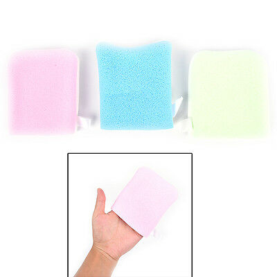 Reusable Microfiber Facial Sponge Face Towel Makeup Remover Cleansing Glove JO
