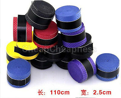 10pcs Absorb stretchy Tennis Squash Racquet Band Grip Anti-slip Tape Overgrips J