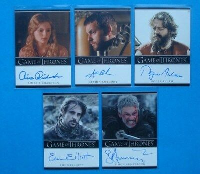 LOT **GAME Of THRONES**GoT Season 2 Auto/AutoGraph Cards RICHARDSON Anthony