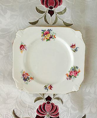 Vintage Paragon Fine China Made In England Square Side Plate C1930's