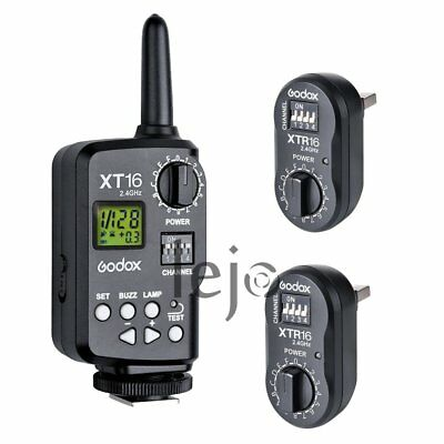 Godox XT-16 Wireless 2.4G Power Controller Flash Trigger Receiver Kit f Studio