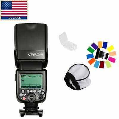 US Godox V860II-N GN60 2.4G i-TTL Li-on Battery Camera Flash Speedlite F Nikon