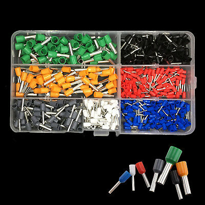 New 600pc Insulated Cord Pin End Wire Tube Crimp Copper Terminal Connectors Kit