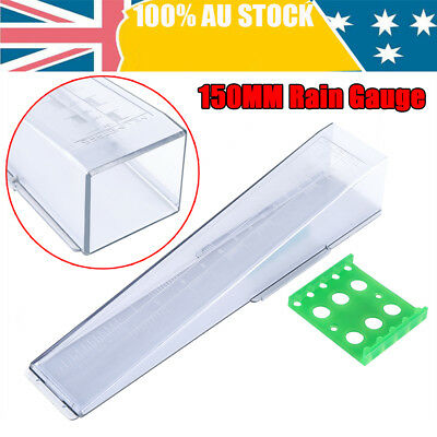 Professional 150mm Rain Gauge Australian Made- Life Time Wty Won't Yellow New
