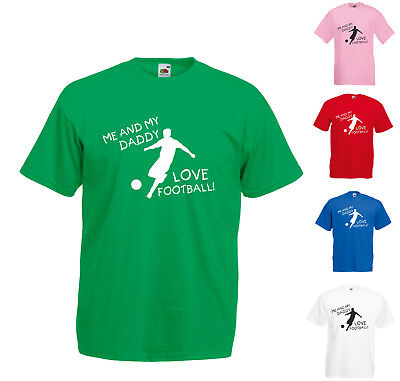 Me And My Daddy Love Football Printed T-Shirt Kids Sizes Gift Family