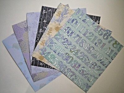 """6 SHEETS """"FOREVER IN TIME"""" PERFECT PRINTS SCRAPBOOKING PAPER #2 ~ You Choose"""