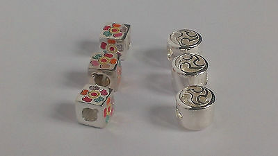 Job Lot of 6 Sterling Silver 925 Bracelet Charms RRP £180.00