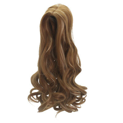 "2pcs Curly Hair Replacement Wig for 18"" American Girl Dolls Hair DIY Making"