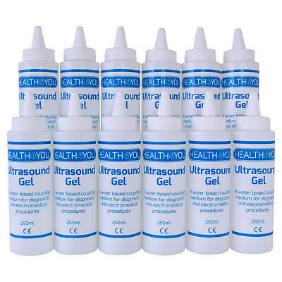 Ultrasound Gel 12 x 250ml Bottles. Cheap Bulk Prices EMS Conductive Physio Fetal