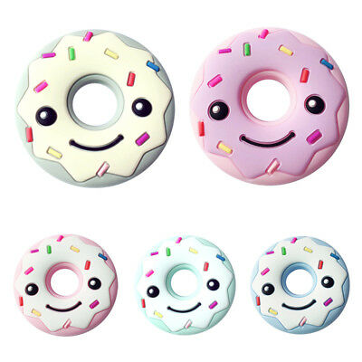 Baby Safety Food Grade Silicone Donut Baby Teething Chew Toy Teether Grind