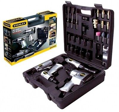NEW! Pneumatic Impact Wrenches Stanley 8221074stn Compressor Kit 34-teile Top