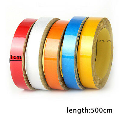 5Mx1CM Car Styling Reflective Warning Strip Tape Vehicle Body Decor Stickers DIY