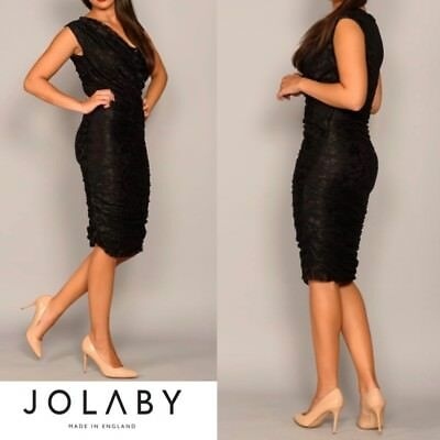 0903 Jolaby Atom Black Lace Bodycon Wedding Occasion Races Formal Cruise.