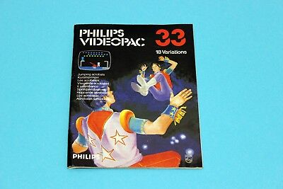 PHILIPS VIDEOPAC G7000 - JUMPING ACROBATS, No.33 - Spielanleitung Manual Booklet