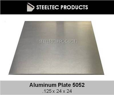 "2 Pieces - 1/8"" .125 Aluminum Sheet Plate 24"" x 24"" 5052 - SAVE When You Buy 2!"