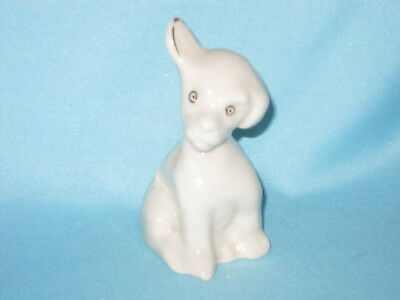 Carlton China Dog with raised ear  - NORTHAMPTON crest