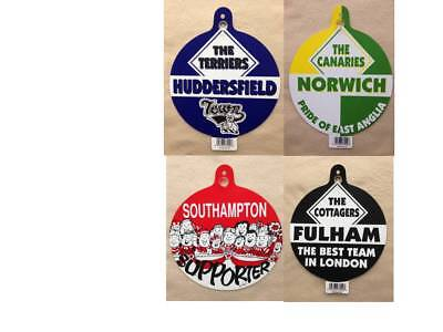 Huddersfield norwich southampton fulham car window stickers