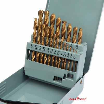21PCS Drill Bit Set HSS Titanium Multi-Bits Twist Metal Tools 135 Split Point