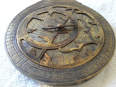 "Vintage Antique Brass""Persian Ottoman Turkey""Arabic islamic Astrolabe Navigation"