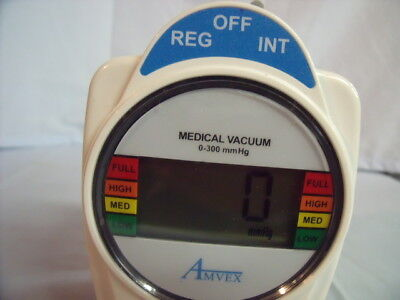 AMVEX Medical Vacuum Regulator 0-300mmHg Works Great!  Warranty! O1