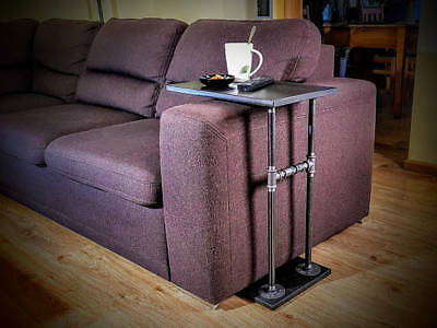 Sofa Side Table/C Table/End Table Made From Vintage Pipe Fittings Steampunk