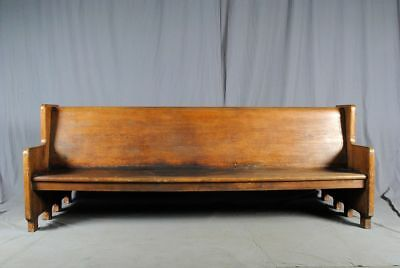 Antique Double Sided Railroad Train Station Bench - 8.5 feet wide