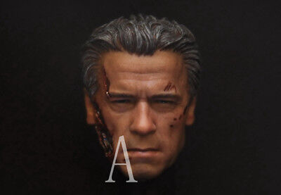 1/6 Custom Arnold Schwarzenegger Terminator Genisy Damaged Head For Hot Toys