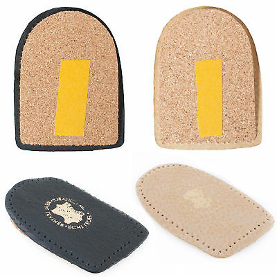 Real Leather Heel Support Orthotic Lift Pad Cork Cushion Genuine Shoe Insert