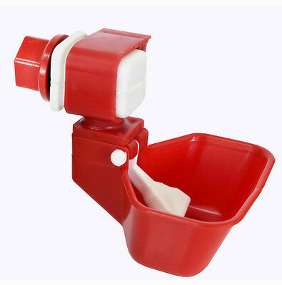 Nipple Drinker,  Water Tank Large Cup Nipple Drinker for Poultry, Quail