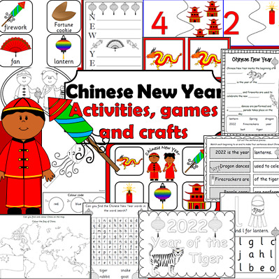CHINESE NEW YEAR RESOURCES 2019 games, crafts, activities EYFS KS1 FESTIVALS