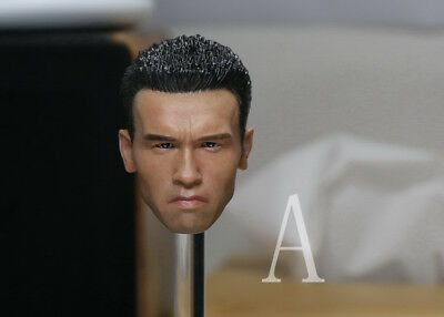 1/6 Custom Young Arnold Schwarzenegger Terminator T800 Head For Hot Toys