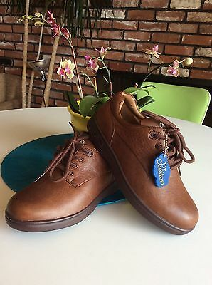 9 New Dr. COMFORT LAURA Brown leather SHOES Therapeutic Diabetic Womens 5.5 W