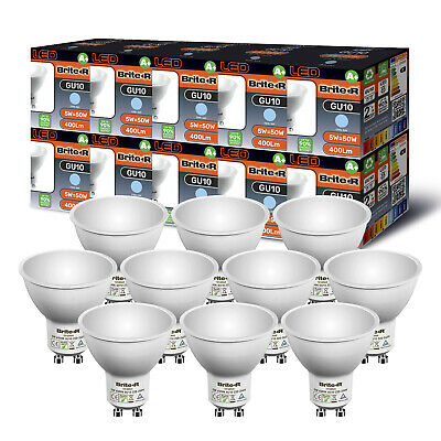 Pack of 10 5W LED GU10 Spotlight Light Bulbs Lamp Cool White Daylight 6500K A