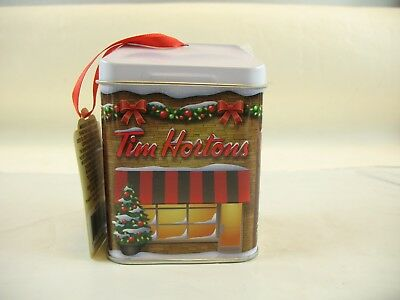 Tim Horton's tin decoration with tea in it