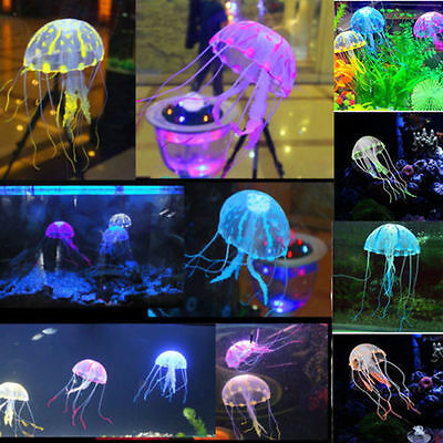 Glowing Effect Aquarium FLOATING JELLYFISH Jelly Fish Tank Ornament Decoration